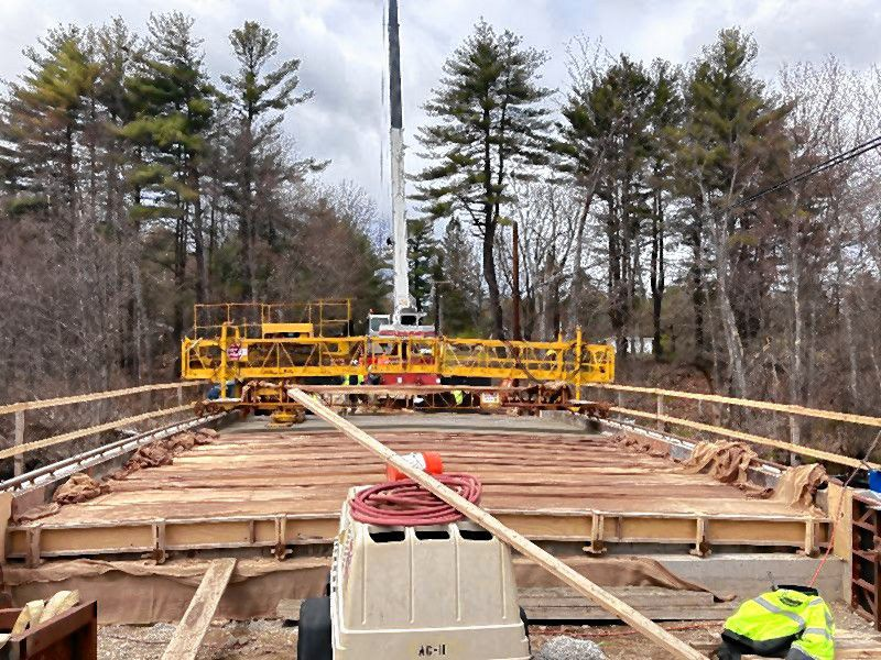 The contractor has completed the new Hooksett Turnpike bridge deck and road construction will begin on Monday. This work will continue over the next two weeks.