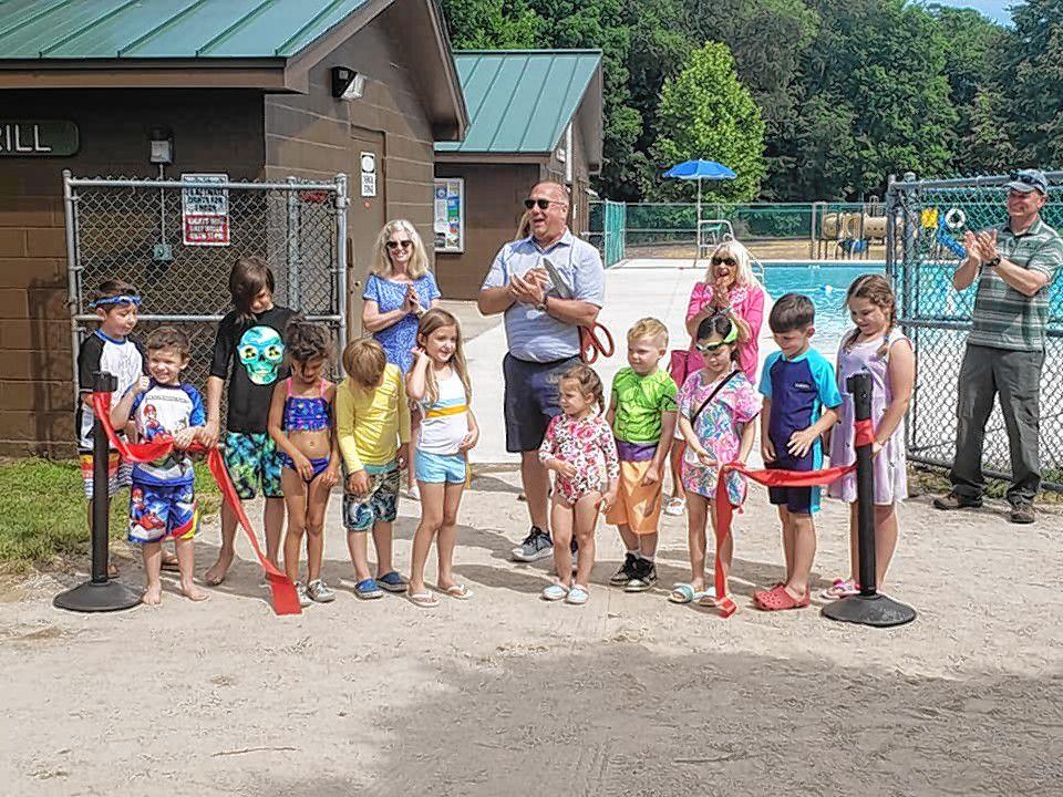 The grand reopening of Merrill Pool was held June 18.