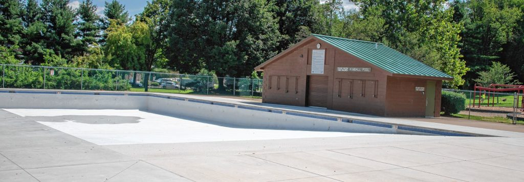 The pool at Kimball Park in Concord has been winterized as of Wednesday, August 15, 2018. Maddie Vanderpool