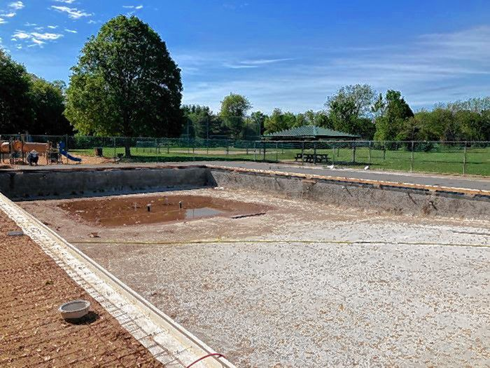 Merrill Park pool renovation continues.