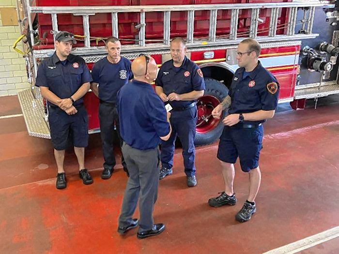 Concord Fire Department personnel were recognized last week by Concord Hospital for two recent significant medical events.