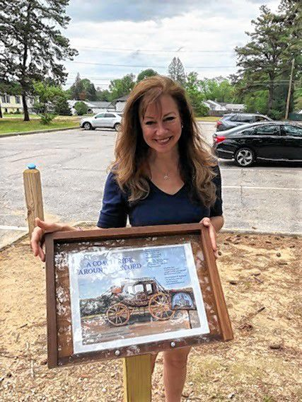 """Concord Parks & Recreation is excited to have the privilege to display """"A Coach Ride Around Concord"""" by local author and illustrator Jill Galvin."""