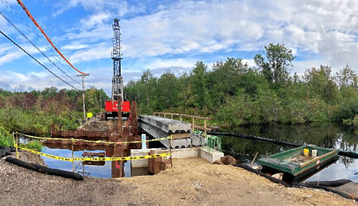 Work continues on the Birchdale Road bridge.