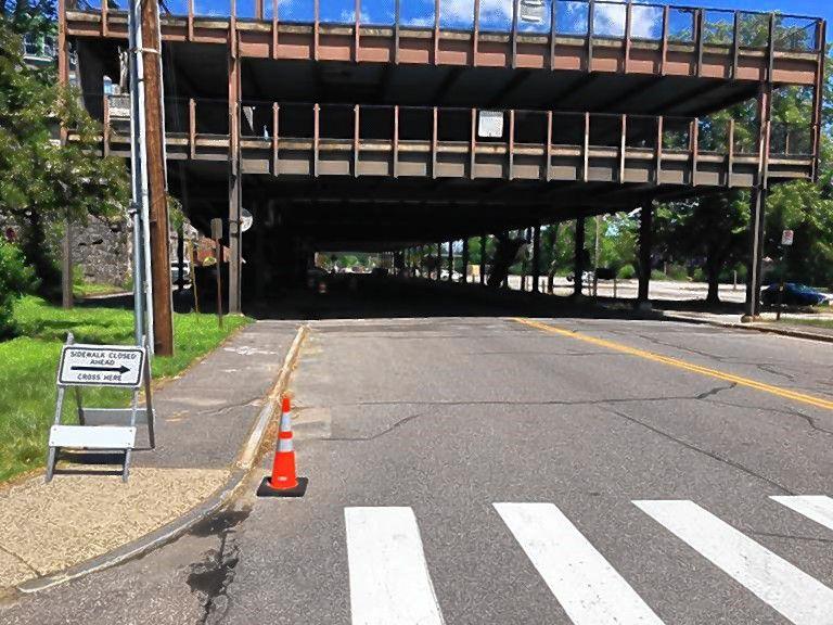 Work will continue through September on the Storrs Street Legislative Parking Garage.