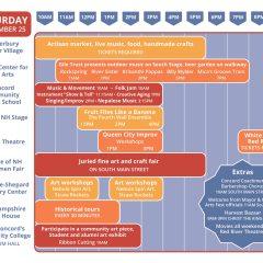 Capital Arts Fest schedule