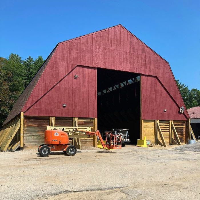 The city's sand and salt barn has undergone an extensive rehabilitation, just in time for winter!