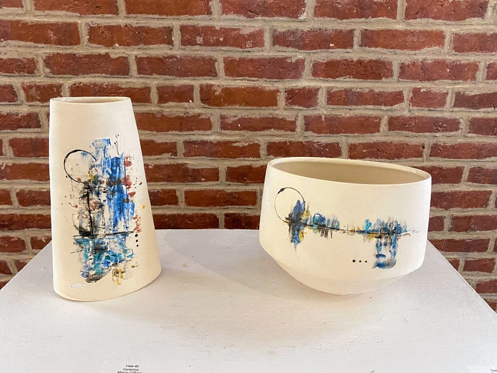 ceramic work is by Marcia O'brien Mary Mead