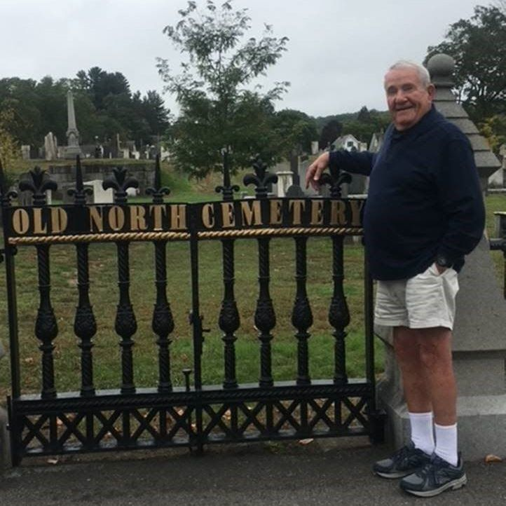 Doug Wyman recently painted the gate at Old North Cemetery.
