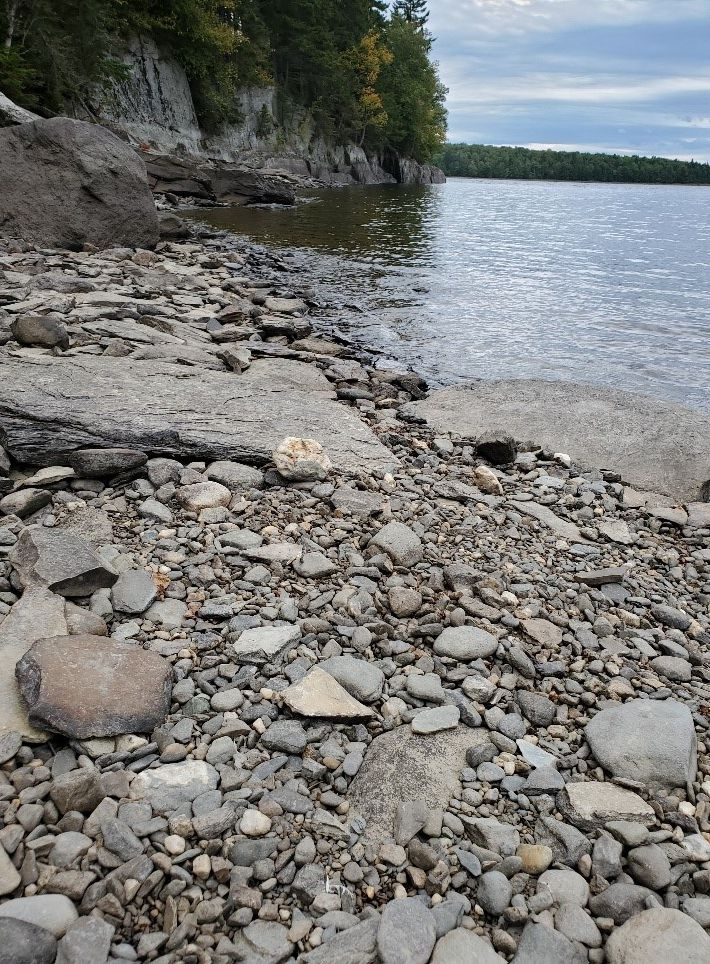 Stones from Connecticut Lake in Pittsburg were painted with inspirational message to be shared among survivors.